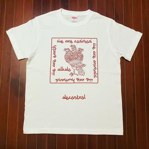 ALKDO / DECONTROL T-shirts White/Red