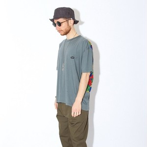 "QUOLT / クオルト | "" BACK-FIND CUTSEW "" Big Tee / GRAY-BLUE"
