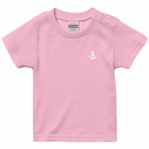 〚BABY〛5.6oz. ハイクオリティーTシャツ_KOBEイカリマーク_ピンク