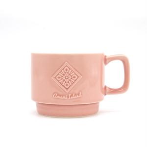 オリジナルマグカップ   ピンク   紬柄