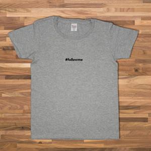 #followme Tシャツ/グレー【CWE-090GR】