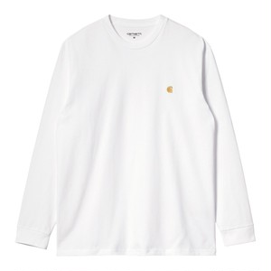 Carhartt (カーハート) L/S CHASE T-SHIRT - White / Gold