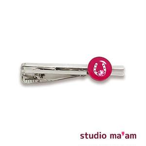 【馬蹄シルバー】タイピン 08(ピンク)