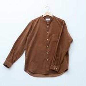 MANUAL ALPHABET / コーデュロイ LOOSE FIT バンドカラーシャツ
