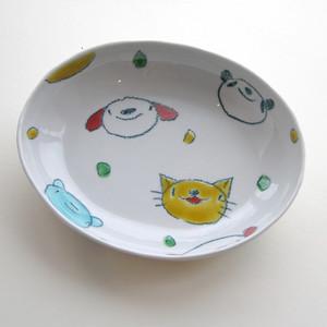 村田菜穂美作 カレー皿 「クレパス みんなおともだち」