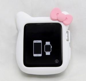 アップルウォッチ ネコ型シリコンカバー