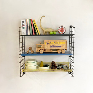 """TOMADO"" Metal Wall Shelving with Basket Design by A. D. Dekker 60's オランダ"