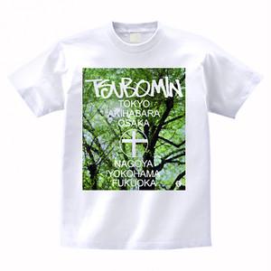 TSUBOMIN / ALL NIPPON TOUR T-SHIRT TREE PHOTO WHITE