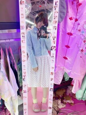ギンガムチェック切り替えいちごドレス/魔法都市東京