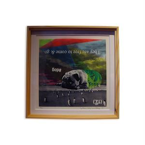 Silkscreen Poster w/Special Frame #A
