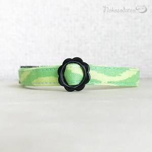 【ジオグリーン】猫用セーフティ首輪/ストレートタイプ 超軽量3g~選べるセーフティバックル 猫首輪 安全首輪