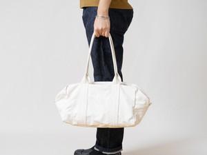 【受注製作】帆布のボストンバッグS 生成り