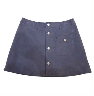 used TTT MSW 18AW suede short skirt(LIghtBlue)