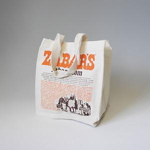 【再入荷】ZABAR'S ゼイバーズ エコトートバッグ キャンバスコットン 定番柄 (small)(※メール便で発送します。全国送料無料です。)