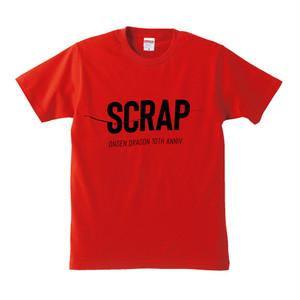 温泉ドラゴン10周年記念「SCRAP」Tシャツ RED