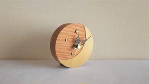 木の置き時計 月と星
