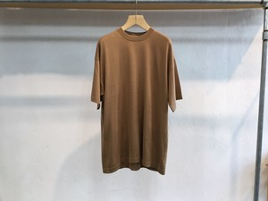 "crepuscule""Silk×Cotton Knit Tee Camel"""