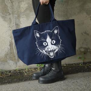Putrid Cat Big Tote Bag Navy