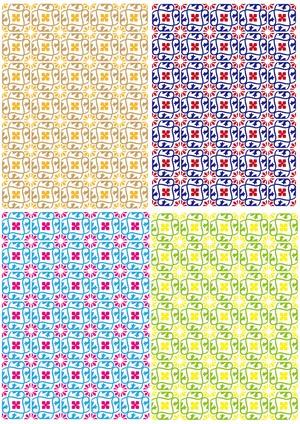 ■リリース記念4種類set A4用紙 017-020【Happy-Yotsuba】5枚×4種 1500円