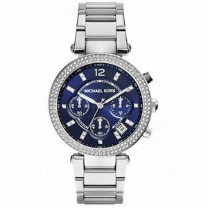 正規品 Michael Kors マイケルコース PARKER パーカー 腕時計 レディース MK6117 ステンレス ネイビー クリスタル クロノグラフ