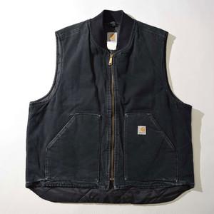 【XLサイズ】CARHARTT カーハート Duck Vest  ベスト BLK ブラック 400610191241