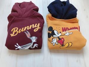 3900円+税 キッズ bunny&mickey パーカー