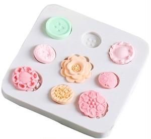 ボタンアイコンパーツ(9種類) シリコンモールド