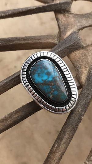 SMOKY BISBEE high grade vintage tourquoise ring