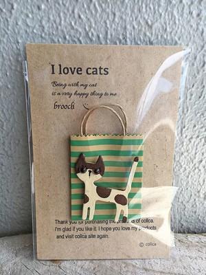 I love cats ねこブローチ 010