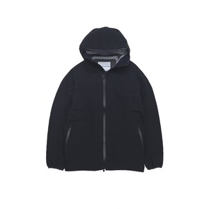 GORE-TEX STRETCH TECHNOLOGY HOODED JACKET - BLACK