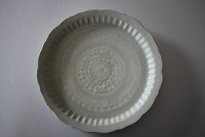 マルヤマウエア|三島リム皿8寸C