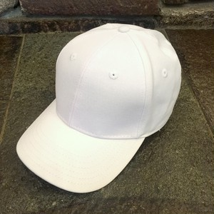 National Solid 6 Panel Cap White