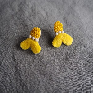 Yellow Embroidery Earrings