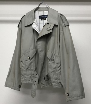 1980s EMPORIO ARMANI CROPPED TRENCH COAT