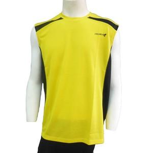 【DOUBLE3(ダブルスリー / ダブル3)】 メンズ (Men's) DW-3290 イエロー ランニング スリーブレスTシャツ