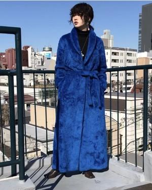 Vintage blue fake fur coat ( ヴィンテージ ブルー フェイクファー コート