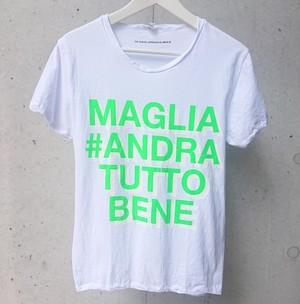 MAGLIA(マリア)チャリティTシャツ #ANDRA TUTTO BENE GREEN ATB-03