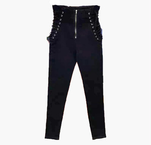 RIMI&Co.SELECT レースアップ ハイウエストスキニーデニム <Lace up High Rise Skinny Jeans Pants>