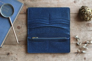 藍染革[migaki] 長財布 【数多】 A
