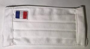 415 夏マスク 1枚仕立て (裏地無し) フランス国旗 Masque d'été en tissu simple sans doublure, Drapeau français
