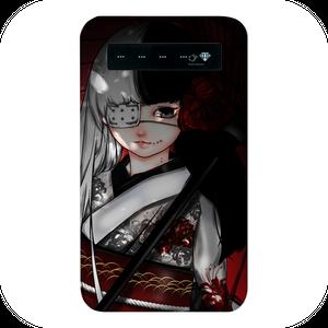 #019-026 女の子系・キュート系 モバイルバッテリー 《番傘少女》  iphone スマホ 充電器 作:續