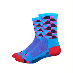 "DEFEET / Ai high-ball 4""  / Blue-pink"