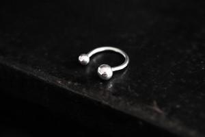 SとM2つの玉の指輪 (silver)