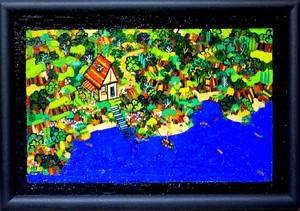 油彩画*湖畔のいえ* 2012