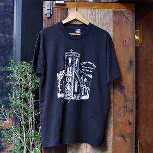 1980-90s Black Print T-Shirt / 90年代 教会 プリント Tシャツ