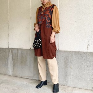 (LOOK) flower layered n/s one-piece