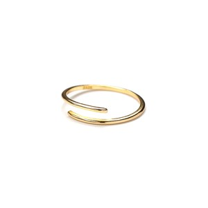S925 LAYERED OPEN RING GOLD