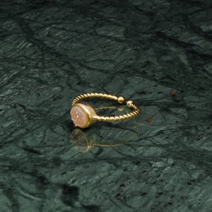 SINGLE MINI STONE RING GOLD 012