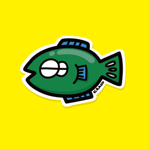 sticker (M) - SAKANA