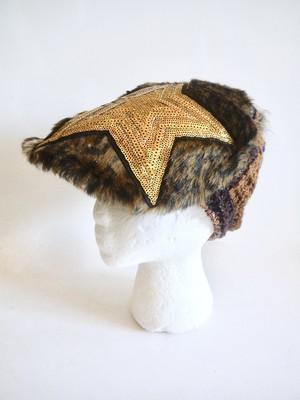 ハンチング風アニマルファーニット帽 <M〜Lサイズ>